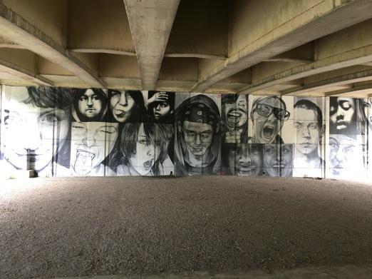 Artwork under the A355 at Windsor