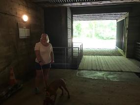 Cool inside the bunker